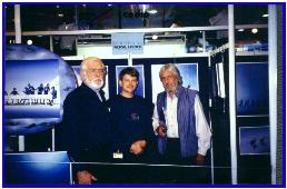 Pascal with Jean-Michel Cousteau and Bertrand Fenet, Antibes 1997