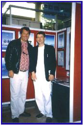 Mike Valentine the famous UW film maker and Pascal, exhibition Antibes 1998