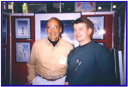 Pascal with living legend photographer and collector Ernst Brooks, Antibes 1998