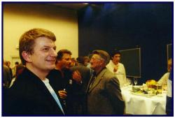 Party after the show, with Jean de Bremacker