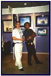 with musician Bernard Abeille