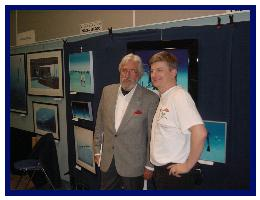 Jean-Michel Cousteau and Pascal  at the diveshow