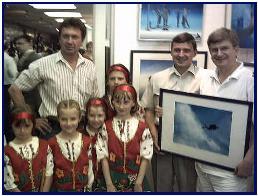 Ukrainian children and patron