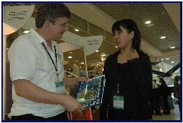 with Asuna Okajima, japanese winner of the poster contest 2004, pic by T.Malmqvist