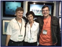 with board of Moscow Diving Show: Elena and Kirill Modylevski