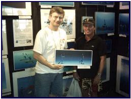 Pascal and customer at Ocean Fest 05