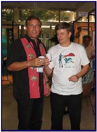 Bill Todd and  Pascal Lecocq at Pascal's opening in Antibes 2005, pic by J.Protta
