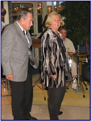 Lotte Hass, Hans Hass at Pascal's opening in Antibes 2005, pic by J.Protta