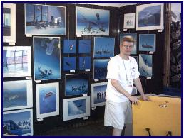 Pascal at the dive show  in Fort Lauderdale, 2006