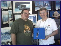 An happy customer of a pascal's painting  in Fort Lauderdale, 2006