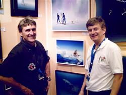 Pascal Lecocq with J-P.Imbert at the Paris Dive show 2007