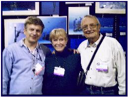 Ron and Valerie Taylor and pascal at BTS 2007