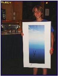 Pascal's art print won by a young winner at Sun Splash 2007, pic by G.Gibson