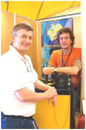 With B.Sutterer (Kinetics housing, wearing a Pascal's watch!), pic by G.Lecocq