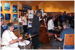 Bernard Abeille, Gilles, Kurt Amsler, Camille Lusardi,Hervé Giorgi, Slava during Pascal's opening party, pic by G.lecocq