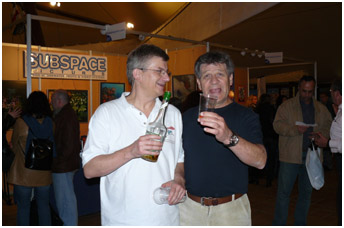 Pascal with Israeli publisher D.Pilosof, pic by G.Lecocq