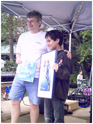 Winner Young Painter of Blue: Sergio, 10