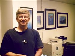 Pascal Lecocq in front of the Ocean Enterprises collection