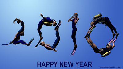 happy new year 2010, CGI by Pascal Lecocq