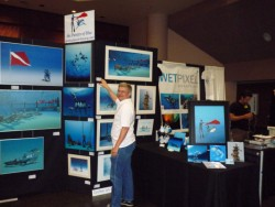 Pascal's exhibition at the Bay Area Dive Show, Santa Clara , CA, 2010