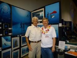 Pascal with filmmaker Bill Mc Donald at Scuba Show 2010