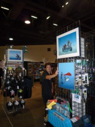 Pascal's exhibition at OceanEnterprises booth at Scuba Show 2010