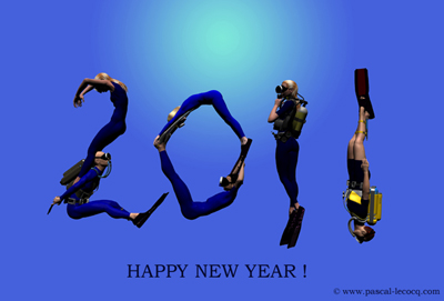 happy new year 2011, CGI by Pascal Lecocq