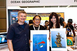 with Jessica Tan and Michael Aw, pic © OceanGeographic