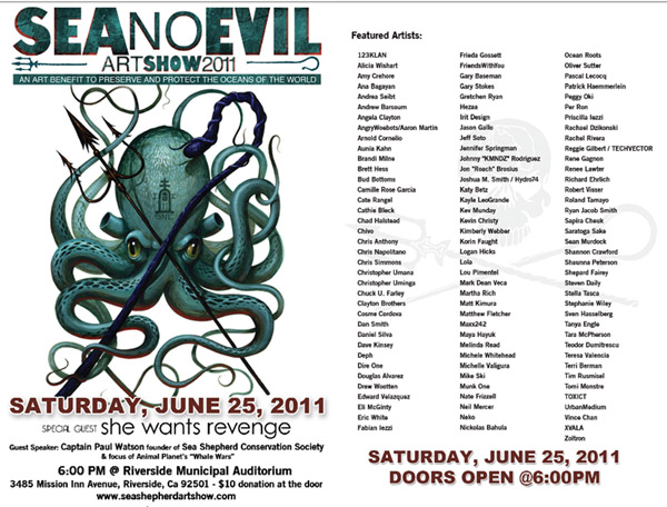 Sea no evil art auction 2011