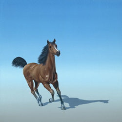 Clippity Clop, oil on canvas by Pascal Lecocq