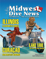 Midwest Dive News with Pascal's side car cover