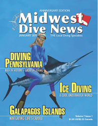 Midwest Dive News with Pascal's zodiac sign Pisces cover