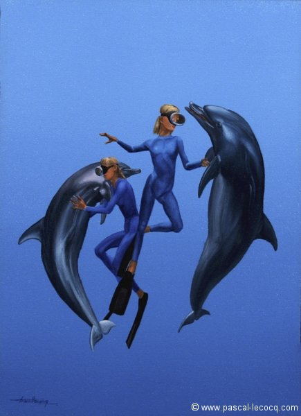 Pascal Lecocq The Painter Of Blue 174 New Paintings